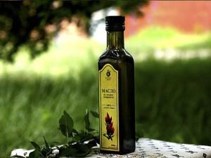 Бутылка амарантового масла